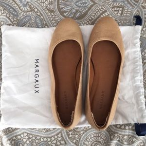 """Margaux """"the limited"""" camel haircalf flats 8.5"""